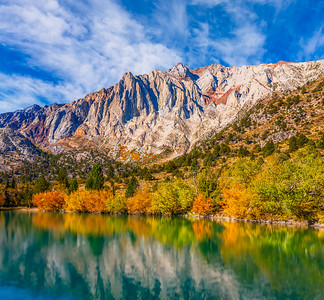Convict Lake Fall Colors Reflection