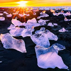 Diamond Beach Sunset