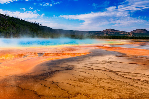 Grand Prismatic Spring Textures