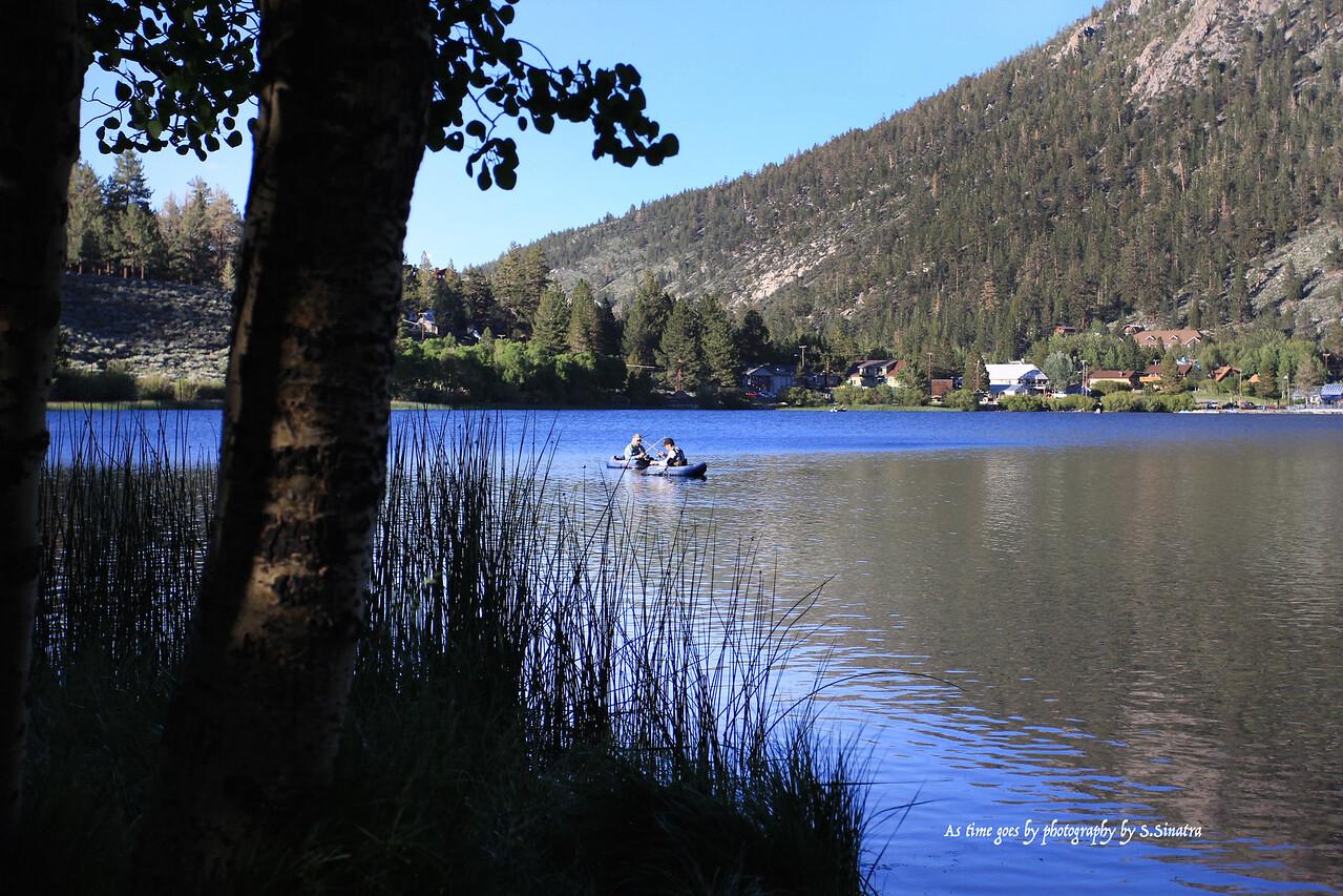 Tub fishing at Gull Lake