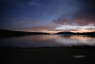 Big Bear Lake at sunset