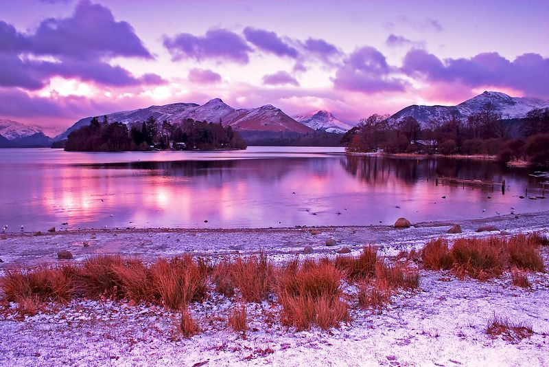 derwent water sunrise