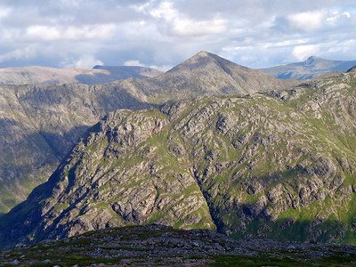 Looking over Beinn Fhada to Buachaille Etive Beag & The Blackmount