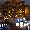 Inside Paris Las Vegas.  Looking at one leg of the Eiffel Tower