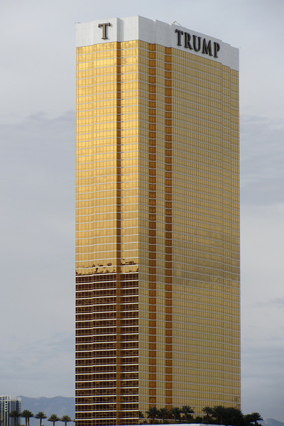 Just left The Peppermill, looking southwest towards the Trump.