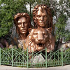 Siegfried and Roy statue in front of The Mirage.  We had crossed the the street (from the Venetian) to catch the bus (south to Paris Las Vegas) from in front of the Mirage.