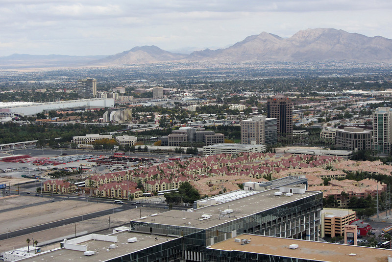 Looking northeast.  The Westin Las Vegas is in the foreground.