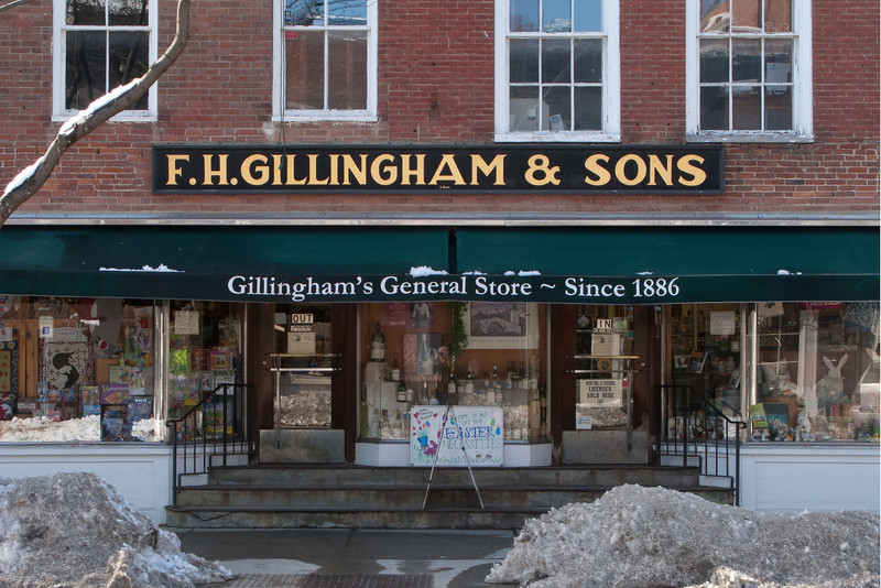 FH Gillingham and Sons General Store.  Woodstock, VT.<br /> Several years ago Sally got me a Kent R7T hand made pocket comb from here.  It needed replacing.   <br /> <br /> Because we pointedly ignored Googleing it, the only way to replace it was to take a trip to Woodstock.