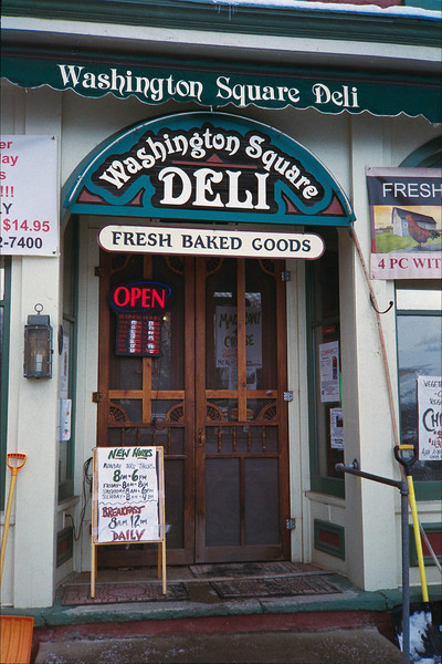 Washington Square Deli in Greenwich NY.  We stopped there on our way to Manchester. Highly reccomended.  (Film)