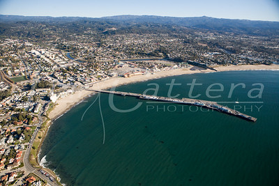 Aerial photos of the City of Santa Cruz, California