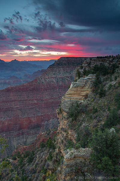 Sunrise at Mather Point, Grand Canyon National Park.