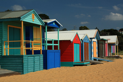Bathing boxes - Mt Martha Mornington Peninsula Vic