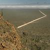 Piste von der Sierra de San Francisco in Richtung Pazifik, Nebelwüste, Baja California, Niederkalifornien, Mexiko, Mexico