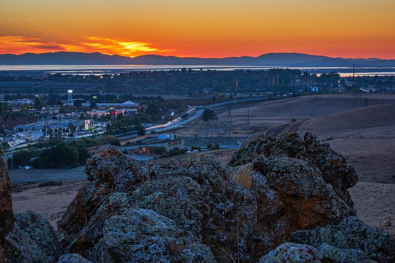 Blue Rock sunset
