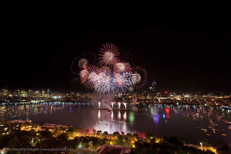 Boston and Cambridge Port on the 4th of July 2011.
