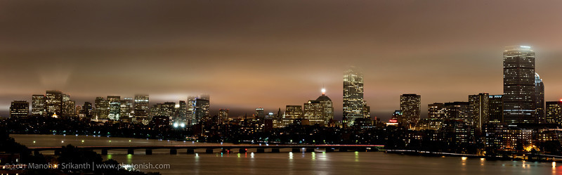 Boston Night Sky after a Storm.