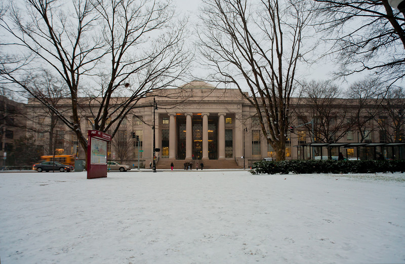 First snow day, Dec 2010. 77 Mass. Ave. MIT.