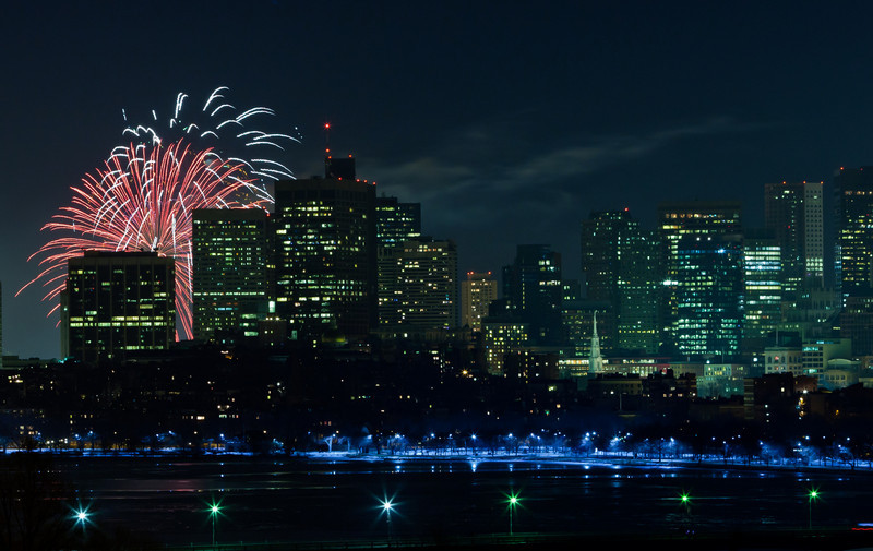 New year in Boston: 12:01AM, 1/1/11.