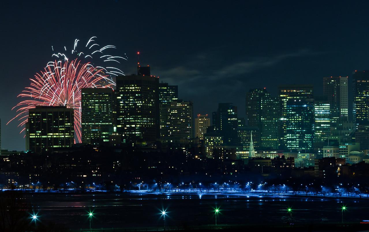 New year in Boston: 12:01AM, 1/1/11.