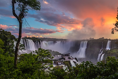 Sunset at Iguzau Falls