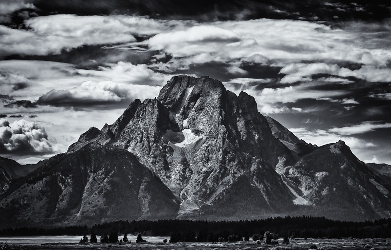 Mt. Moran Monochrome