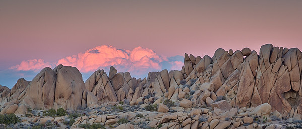 Twilight at Jumbo Rocks, Joshua Tree National Park