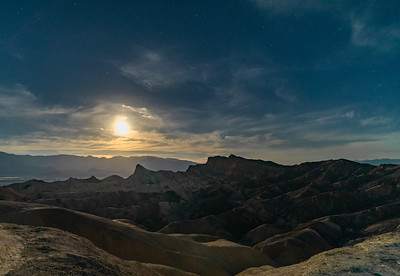 Zabriskie Point by moonlight.