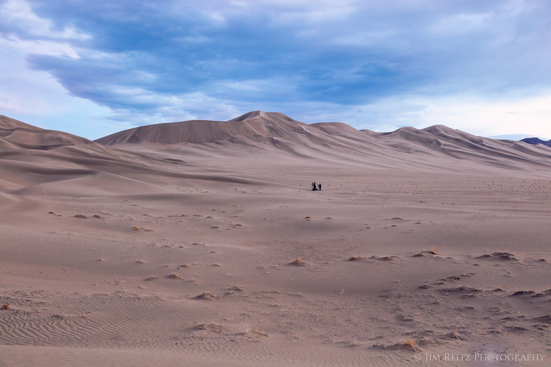 """""""Lost in the Dunes"""" - some of my fellow photographers are dwarfed by the landscape at Eureka Dunes."""