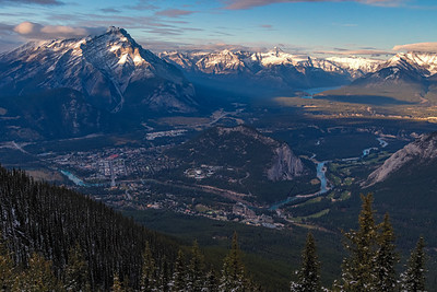 View of Banff from top of Sulphur Mountain