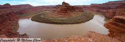 Dead Horse Point View Panorama from the Shafer Trail