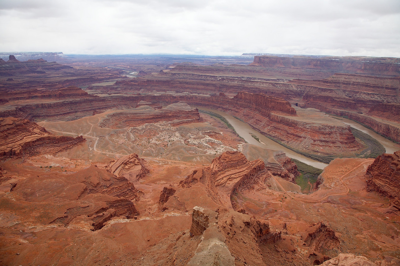 Dead Horse Point View on a Stormy Day