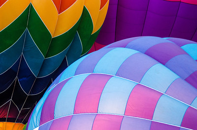 Hot Air Balloons inflating during the Chattanooga River Rocks Festival.