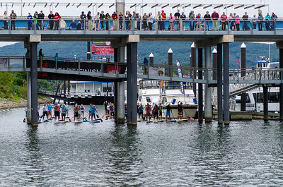 Start of the SUP race during Chattanooga's River Rocks Festival