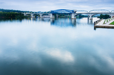 Early morning along the downtown Chattanooga riverfront.