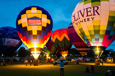 Balloon glow during the Chattanooga River Rocks Festival