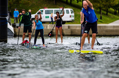 SUP race during the Chattanooga River Rocks Festival