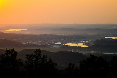 View into downtown Chattanooga from Raccoon Mountain