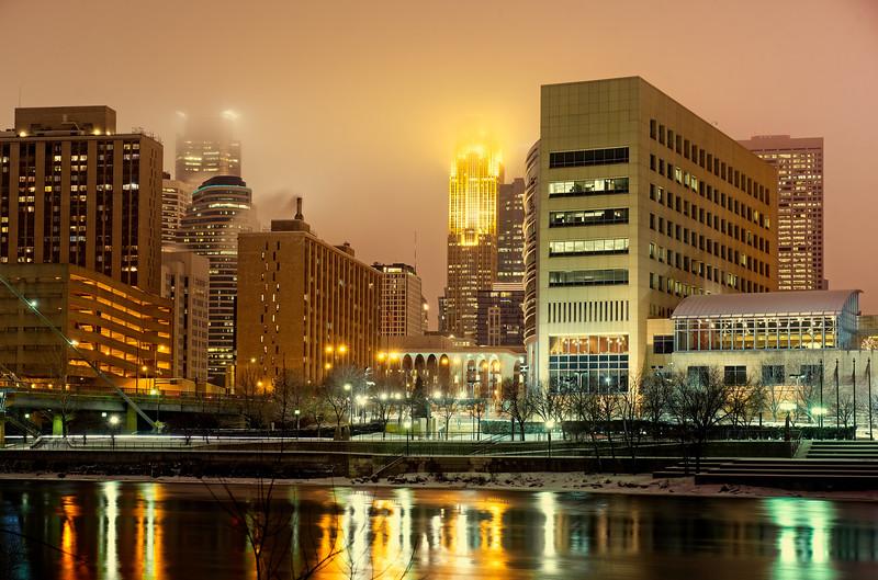 Frozen Night in Minneapolis