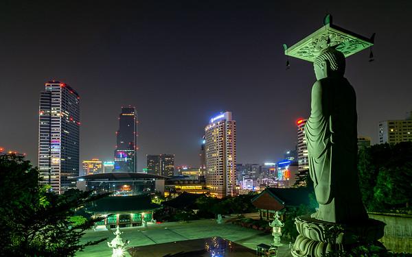Bongeunsa Temple at Night