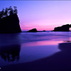 "<font color=""#FFFFFF"" size=""4"" face=""Verdana, Arial, Helvetica, sans-serif"">Second Beach at Dusk</font><br> Olympic NP, Washington"