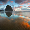 "<font color=""#FFFFFF"" size=""4"" face=""Verdana, Arial, Helvetica, sans-serif"">Haystack Rock</font><br> Cannon Beach, Oregon"