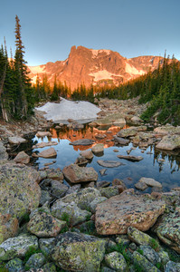 Notchtop Mountain and pond, RMNP