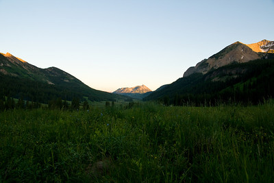 Worms eye view of Mt Crested Butte from Rustlers Gulch