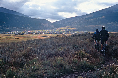 Enjoying a fall ride on Tony's Trail above Crested Butte