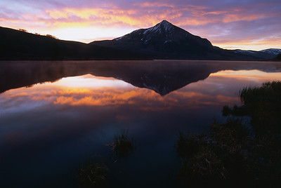 Early morning on Peanut Lake just outside the town of Crested Butte
