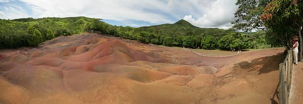 16.01.2008 Mauritius / Chamarel / Terres des 7 couleurs / Gesteinsformationen / 180° Panorama
