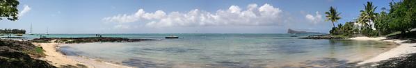 13.01.2008 Mauritius / Strand suedlich von Cap Malheureux / 180°- Panorama