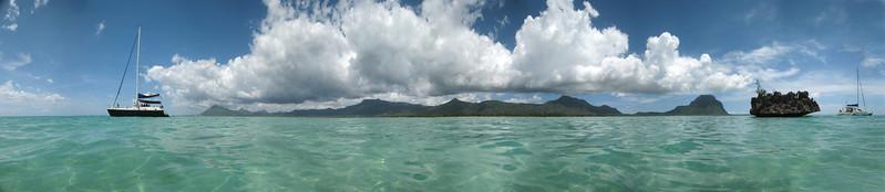 """21.01.2008 Mauritius / District: Black River / naechster Ort: La Gaulette / Schnorcheln vor den Benitiers Islands beim """"Crystal Rock"""" / Unterwasserkamera / 180°- Panorama"""