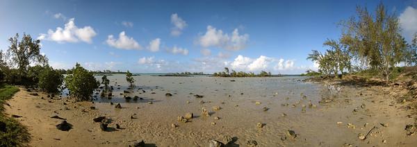 22.01.2008 Mauritius / Mangrovenbucht zwischen Cap Malheureux und Calodyne / 180°-Panorama
