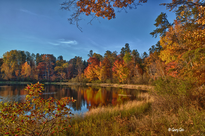 HDR Photo- Town Corner Lake - Pigeon River Forest Country, Michigan